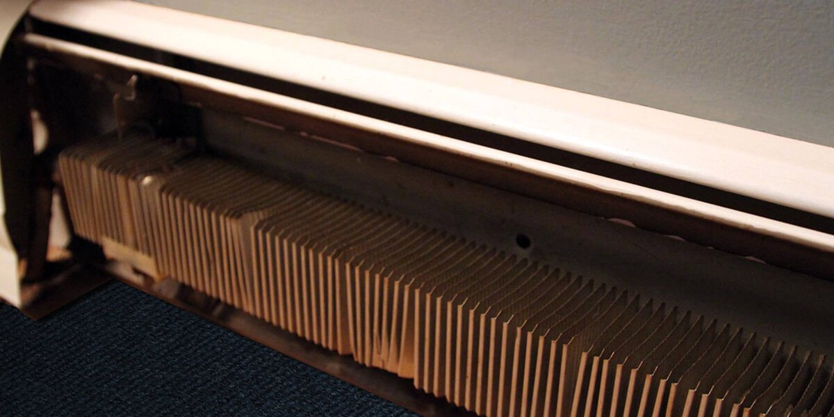 how does a baseboard heater work and clean